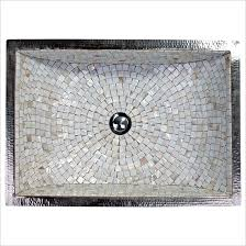 undermount rectangular bathroom sink linkasink undermount mosaic bathroom sinks