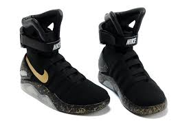 nike air mag elite black gold with led lighting shoes