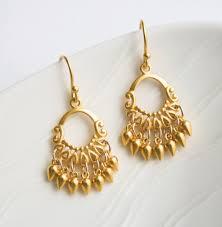 gold chandelier earrings gold jewelry indian summer by laurastark