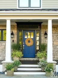 colored front doors for homes blue front door blue front door brick house