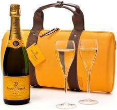 in the photo image veuve clic brut box traveller with two gles 0 75