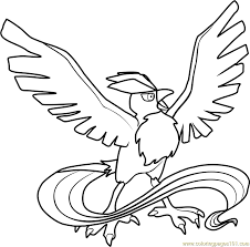 Small Picture Articuno Pokemon Coloring Page Free Pokmon Coloring Pages