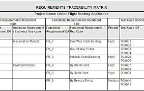 requirements traceability matrix templates requirements traceability matrix template example