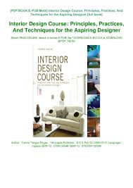 B Interior Design Course Download Book Interior Design Course Principles Practices
