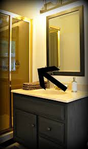 update bathroom mirror: serendipity refined blog how to update oak and brass bathroom fixtures with spray paint and chalk paint