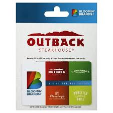 outback gift card 50