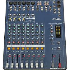 yamaha mixer. yamaha mg124c 12-input stereo mixer with compression q