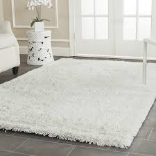 white shag rug living room. Amazon.com: Safavieh Classic Shag Collection SG240A Handmade White Area Rug (5\u0027 X 8\u0027): Kitchen \u0026 Dining Living Room