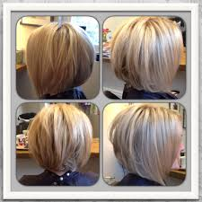 Graduated Bob Hairstyles Love My New Hair Blonde Highlighted Inverted Graduated Bob