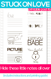 Free Note Template Valentine's Day Stuck On Love Notes Free Printable 21