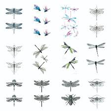 Us 019 Aliexpresscom Buy Dragonfly Temporary Tattoo Sticker Waterproof Women Girls Shoulder Arm Back Hand Fake Tattoos 105x6cm From Reliable