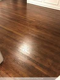 refinishing red oak hardwood floors adding stain to first coat of polyurethane to darken the color room