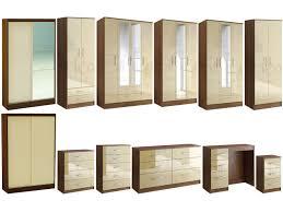 cream bedroom furniture. Full Image For Bedroom Furniture Wardrobe 56 Love Lynx Walnut Cream Gloss