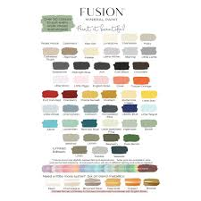Fusion Mineral Paint Color Chart Wonderful Fusion Paint Colors Color Mineral Display Spray