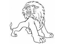 Disegno Da Colorare Leone Arrabbiato Cat 8837 Images