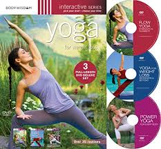 yoga for weight loss deluxe 3 dvd set with over 35 routines