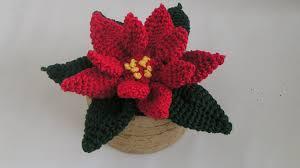 Weihnachtsstern Poinsettia Amigurumi Häkelanleitung