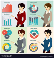 Business Woman Presenting Proposal Royalty Free Vector Image