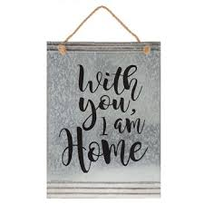 with you i am home galvanized metal wall decor hobby lobby 1469345 pertaining to art design