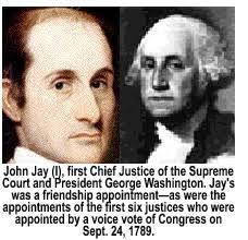 「Washington named John Jay to be chief justice.」の画像検索結果