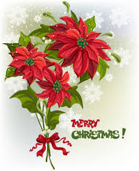 christmas flowers vetor graphics
