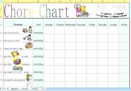 Chore Schedule Template Bookmylook Co