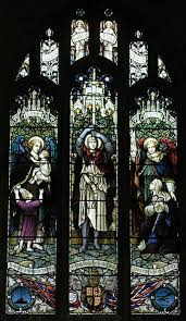 stained glass memorial windows of the