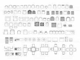 Draufsicht Der Eingestellten Möbel Elemente Gliederung Symbol Für