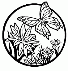 Printable Coloring Pages Of Flowers And Butterflies Free Free Coloring Pages Flowers And Butterflies Download