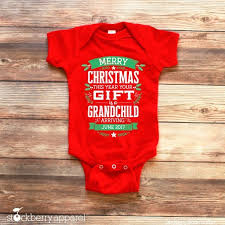Christmas Birth Announcement Ideas Christmas Pregnancy Announcement Grandparents Christmas Baby