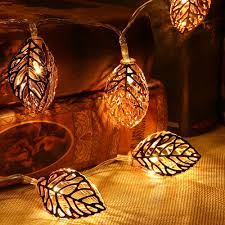 Fairy Lights Battery Operated Canada Led Fairy Lights 20 Metal Leaves Garland String Light