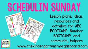 Community Helpers Schedulin Sunday The Kindergarten Smorgasboard