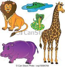 wild animals clipart. Fine Animals Intended Wild Animals Clipart E
