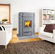 image of free standing ventless gas fireplace grey