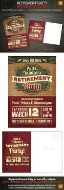 Save The Date Retirement Party Postcard Invitation Print