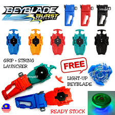 Beyblade Light Up Launcher Free Lights Beyblade Burst Light Up Beyblade Hand Grip String Launcher Ripcord Launcher Beyblade Gt Gasing Toy