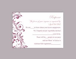rsvp card template diy wedding rsvp template editable text word file download rsvp