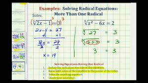 ex solve radical equations cube roots fourth roots