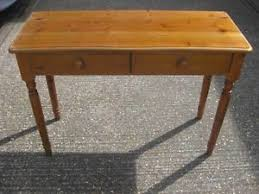 pine console table. Image Is Loading Pine-Console-Table-with-Two-Drawers-Hallway-Table- Pine Console Table