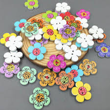 New <b>50 pcs</b> Mixed Color <b>2 Holes Wooden</b> Guitar Buttons Sewing ...