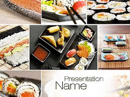 photo collage template powerpoint sushi collage presentation template for powerpoint and keynote ppt