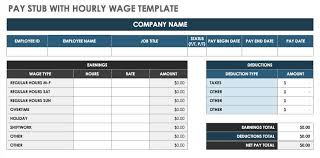 Hourly Payroll Calculator Free Free Pay Stub Templates Smartsheet