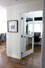 office feature wall. Sherwin Williams Creamy With Glass French Door Into Home Office Black Feature Or Accent Wall. Kylie M Interiors E-decor And Color Consulting Wall