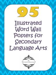 95 ilrated word wall posters for age arts