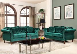 lazo emerald green velvet sofa