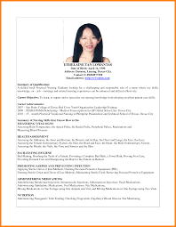 Awesome Collection Of Resume Of Nurse In Philippines Resume Nurse
