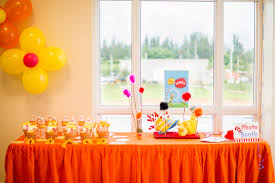 Orange And Yellow Party Decoration Ideas
