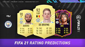 FIFA 21 Rating Predictions - Manchester City - Futhead News