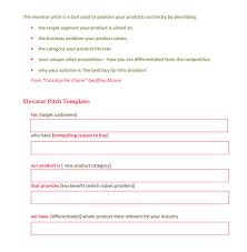 30 Second Pitch Template 12 Elevator Pitch Templates To Download