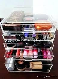 acrylic makeup organizer box drawers